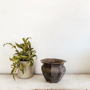 Weathered brass vase